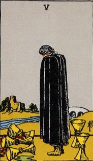 タロットカード聖杯5