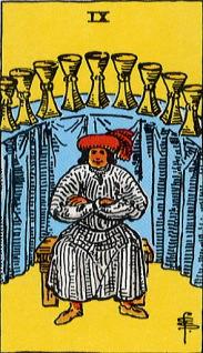 タロットカード聖杯9