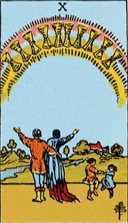 タロットカード聖杯10