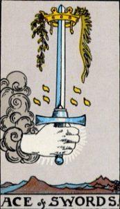 タロットカード剣エース