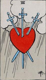 タロットカード剣3