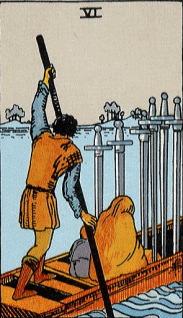 タロットカード剣6