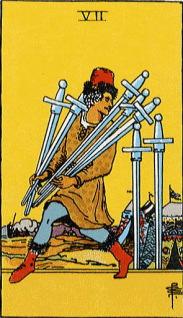 タロットカード剣7