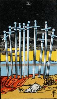 タロットカード剣10