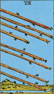 タロットカード棒8